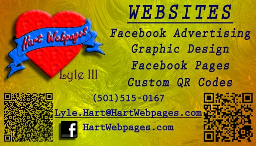 Hart Web pages business Card